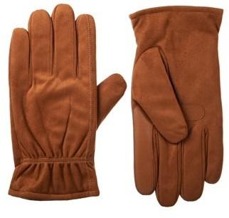 Isotoner Men's smartDRI Brushed Microfiber Gloves