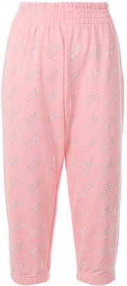 GCDS monogram cropped track trousers