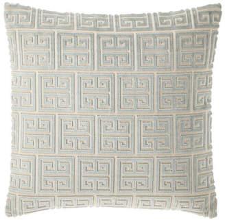 "Isabella Collection Lyssa Greek Key Pillow, 18""Sq."