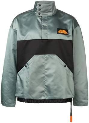 Palm Angels colour block rain jacket