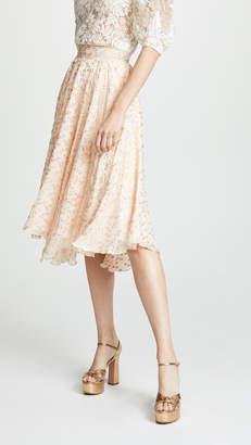 EWA Herzog Gold Dot Midi Skirt