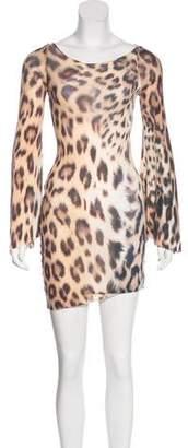 Rick Owens Animal Print Bodycon Dress