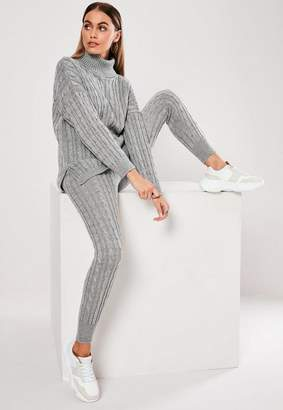 Missguided Cable Knit Co Ord Leggings