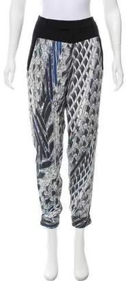 Helmut Lang Silk Cropped Pants