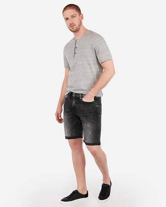Express Slim 9 Inch Black Stretch Denim Shorts