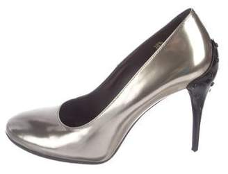 Tod's Metallic Leather Pumps