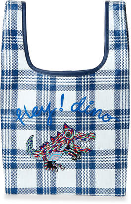 Sjyp Plaid Applique Paper Tote