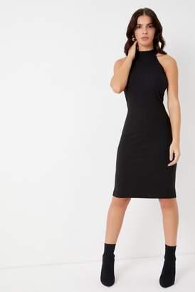 Next Lipsy High Neck Rib Midi Dress - 4