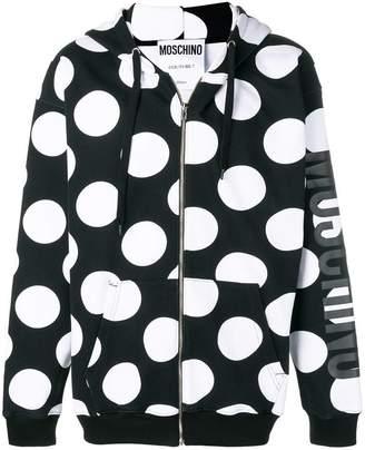 Moschino hooded polka dot jacket