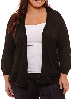 Liz Claiborne Essential Cardigan- Plus