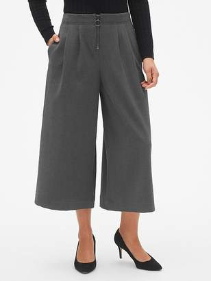Gap High Rise Wide-Leg Crop Pants with O-Ring Zip