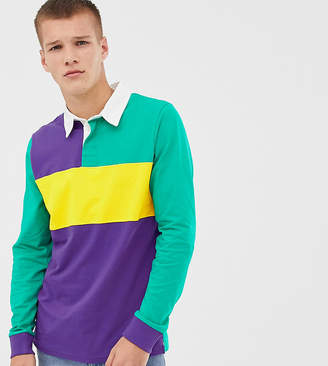 Another Influence TALL rugby Long Sleeve Top