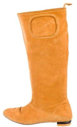 Salvatore Ferragamo Suede Knee-High Boots