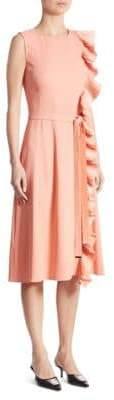 Altuzarra Lavinia Belted Ruffle Dress