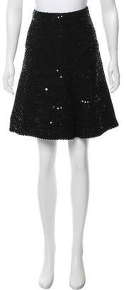 Andrew Gn Sequined Wool Skirt