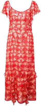 Anna Sui Chasing Hearts metallic jacquard dress