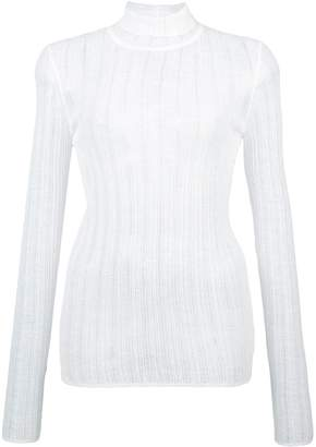 Theory roll neck sheer sweater