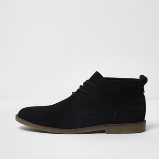 cbe6be9eb38 Mens Black Suede Chukka Boots - ShopStyle UK
