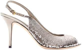 Gucci Silver Glitter Heels