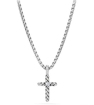 David Yurman Cable Collectibles Kids Cross Necklace with Diamonds