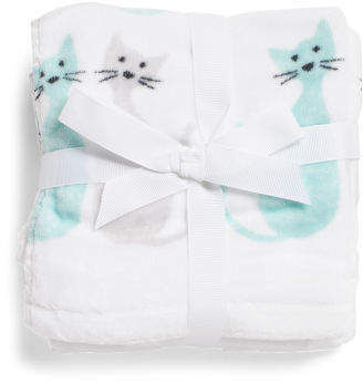 Set Of 4 Whimsy Cat Wash Towels