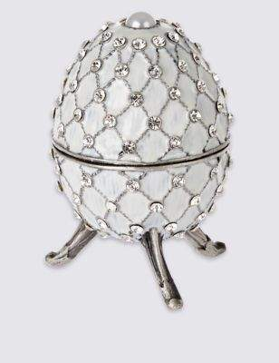 Marks and Spencer Gustavs Egg Diamant© Encrusted Trinket Box