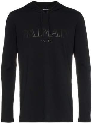 Balmain logo lightweight hoodie