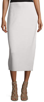 Eileen Fisher Washable Silk/Cotton Midi Pencil Skirt, Plus Size