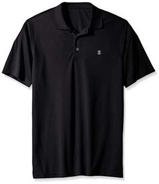 Izod Men's Big and Tall Golf Grid Short Sleeve Polo