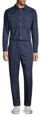 Standard Issue NYC Long-Sleeve Denim Jumpsuit