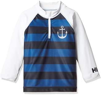 Helly Hansen (ヘリー ハンセン) - (ヘリーハンセン) HELLY HANSEN K L/S Half-zip Border Rashguard HJ81600 W ホワイト 100