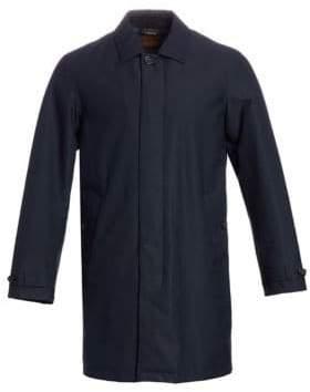 Ermenegildo Zegna Men's Microtene Rain Jacket - Navy - Size Small