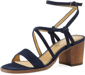 Splendid Filipa Suede Low-Heel Sandal
