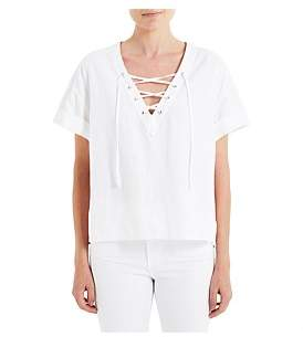 AG Adriano Goldschmied Kelly Lace Up Top