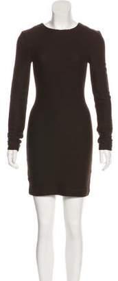 Kimberly Ovitz Wool Bodycon Mini Dress
