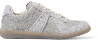 Maison Margiela - Replica Felt Sneakers - Gray $565 thestylecure.com