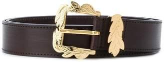 Alberta Ferretti leaf buckle belt