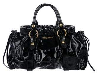 Miu Miu Patent Leather Satchel