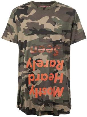 Mostly Heard Rarely Seen camouflage logo print T-shirt