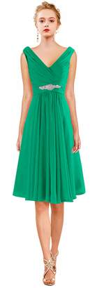 ThaliaDress Short V Neck Bridesmaid Party Evening Dresses Prom Gowns T19LF US