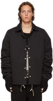 Rick Owens Black Snap Front Jacket