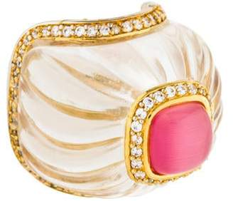 Angélique de Paris Parfum Rock Crystal Cocktail Ring