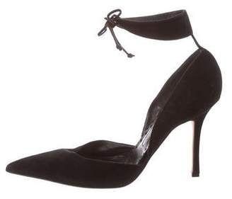 bb1f85d3251b Pre-Owned at TheRealReal · Manolo Blahnik Suede Ankle-Strap Pumps