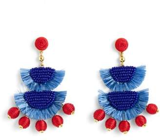 J.Crew J. CREW Bead & Raffia Earrings