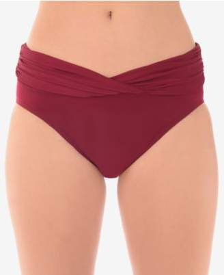 Miraclesuit Solid Shirred-Waist Bikini Briefs