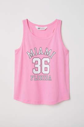 H&M Printed Jersey Tank Top - Pink