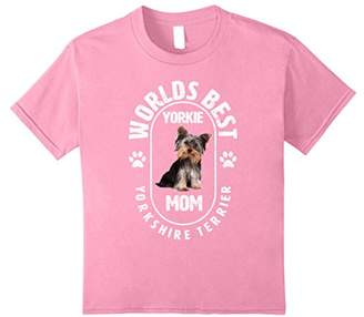 Worlds Best Yorkie Mom T Shirt