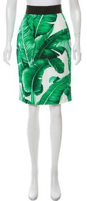 Dolce & Gabbana Banana Leaf Print Knee-Length Dress