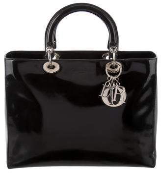 Christian Dior Patent Leather Large Lady Bag