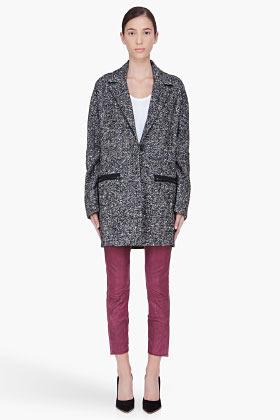 A.L.C. Charcoal Hansen Car coat